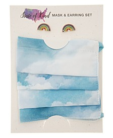Face Mask and Earring Set