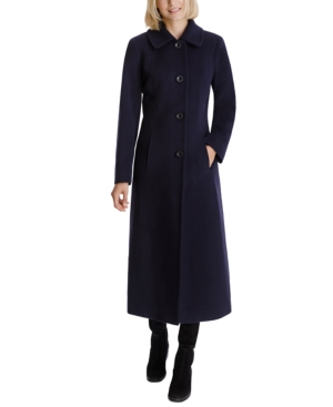 Victorian Jacket, Coat, Ladies Suits | Edwardian, 1910s, WWI Anne Klein Single-Breasted Maxi Coat $189.00 AT vintagedancer.com