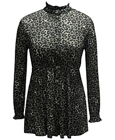Plus Size Printed Mesh Tunic, Created for Macy's