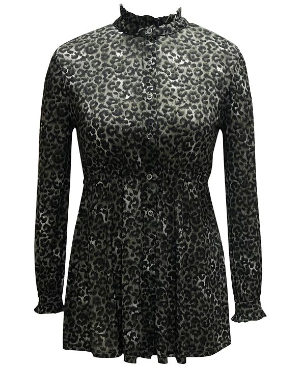 Style & Co Plus Size Printed Mesh Tunic, Created for Macy's