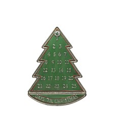 """23.75"""" Metal Tree Advent Calendar with Star Magnet"""