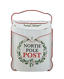 "Embossed Tin ""North Pole Post"" Box"