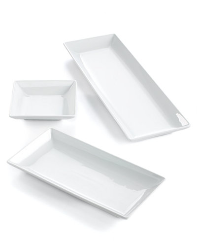 The Cellar Whiteware Nested Serving Trays, Set of 3, Created for ...