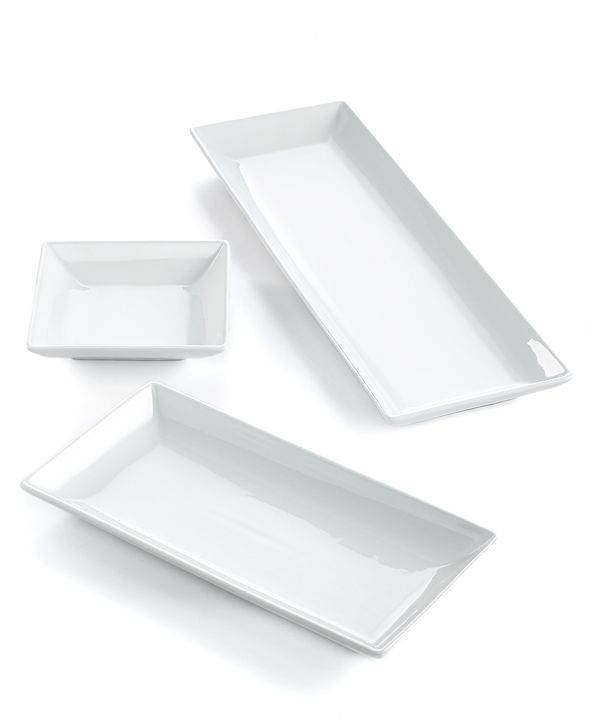 The Cellar Whiteware Nested Serving Trays, Set of 3, Created for Macy's