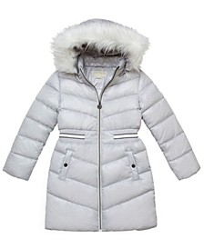 Little Girls Walker Length Puffer Jacket