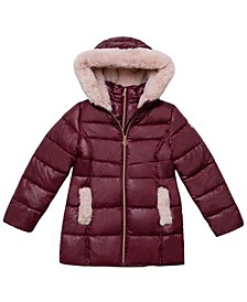 Little Girls Stadium Length Puffer Jacket