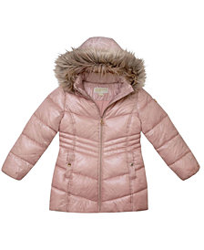 Michael Kors Big Girls Stadium Length Puffer Jacket