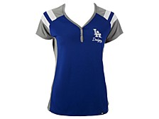 Women's Los Angeles Dodgers Triple Play Henley Shirt