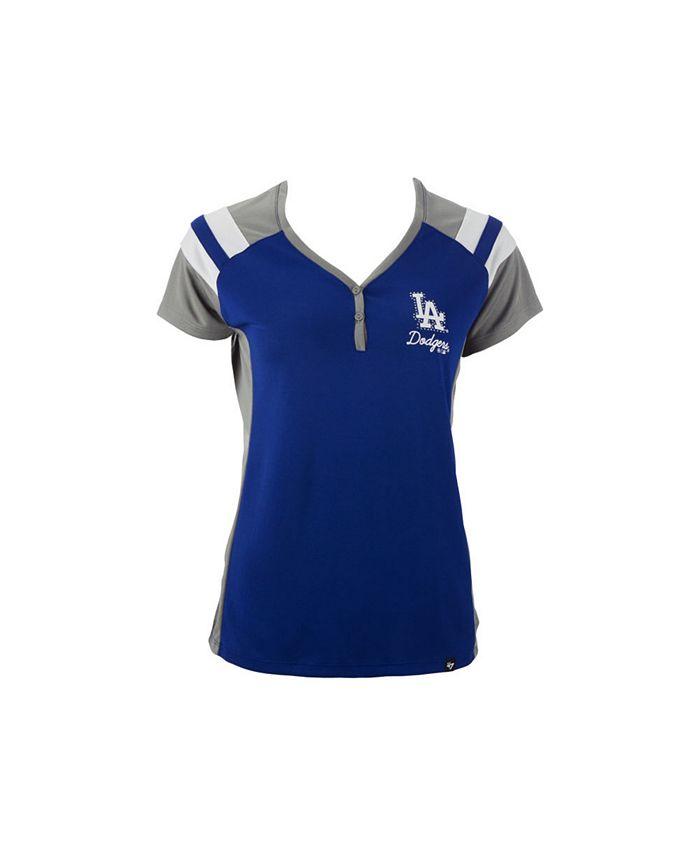 '47 Brand - Women's Los Angeles Dodgers Triple Play Henley Shirt