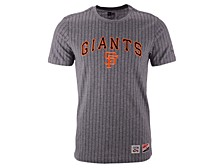 New Era Men's San Francisco Giants Pinstripe Crew Top II