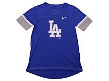 Youth Los Angeles Dodgers Girls V-Neck Hero T-Shirt