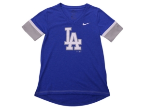 Nike Youth Los Angeles Dodgers Girls V-Neck Hero T-Shirt
