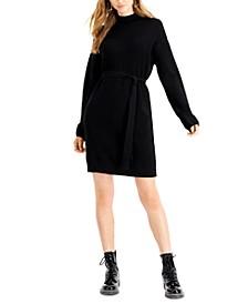 Tie-Front Sweater Dress