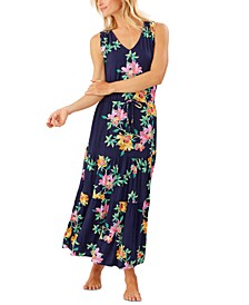 Sunlillies Printed Cover-Up Maxi Dress
