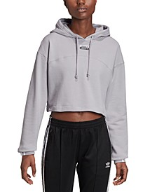 Women's Cotton Cropped Hoodie