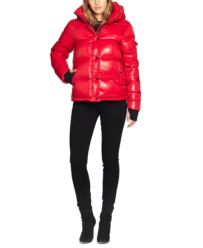 S13 - Ella Lacquer Hooded Puffer Coat