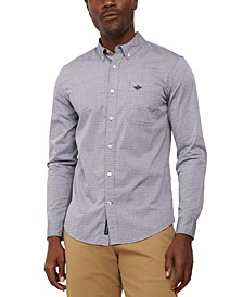 Men's Alpha Icon Regular-Fit Supreme Flex Performance Stretch Poplin Shirt
