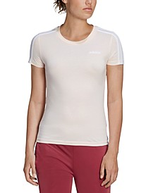 Women's Essentials Cotton 3-Stripe T-Shirt