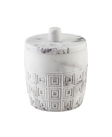 Halston Marble Covered Jar