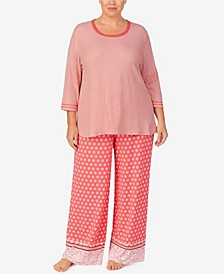 Women's Plus Size Palazzo Pajama Set