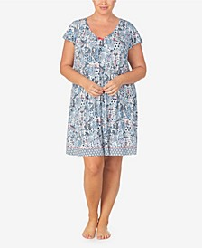 Women's Plus Size Short Sleeve Chemise