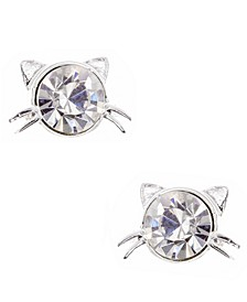Cat Stone Stud Earring