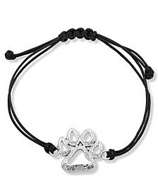Paw Slider Leather Bracelet
