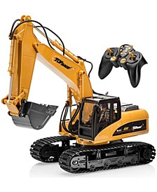 Mag-Genius Die Cast 15 Channel RC Fully Functional Excavator Toy