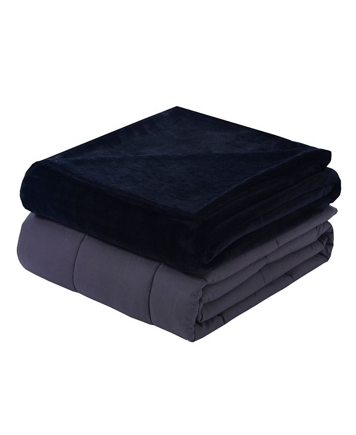 DreamLab - Plush 15lb Weighted Blanket with Washable Cover
