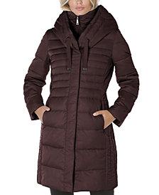 Tahari Hooded Puffer Coat