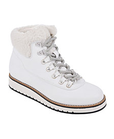 White Mountain Cozy Lace-Up Booties