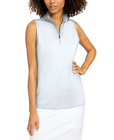 Petite Silky Half-Zip Top, Created for Macy's