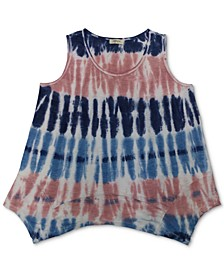 Tie-Dyed Handkerchief-Hem Top, Created for Macy's