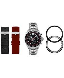 Men's Interchangeable Strap & Bezel Watch 43mm Gift Set