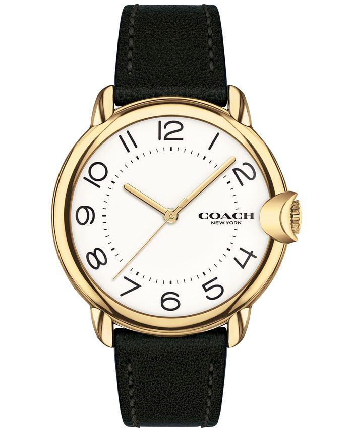COACH - Women's Arden Black Leather Strap Watch 36mm