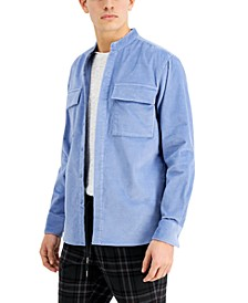 Men's Grayson Band Collar Corduroy Shirt, Created for Macy's