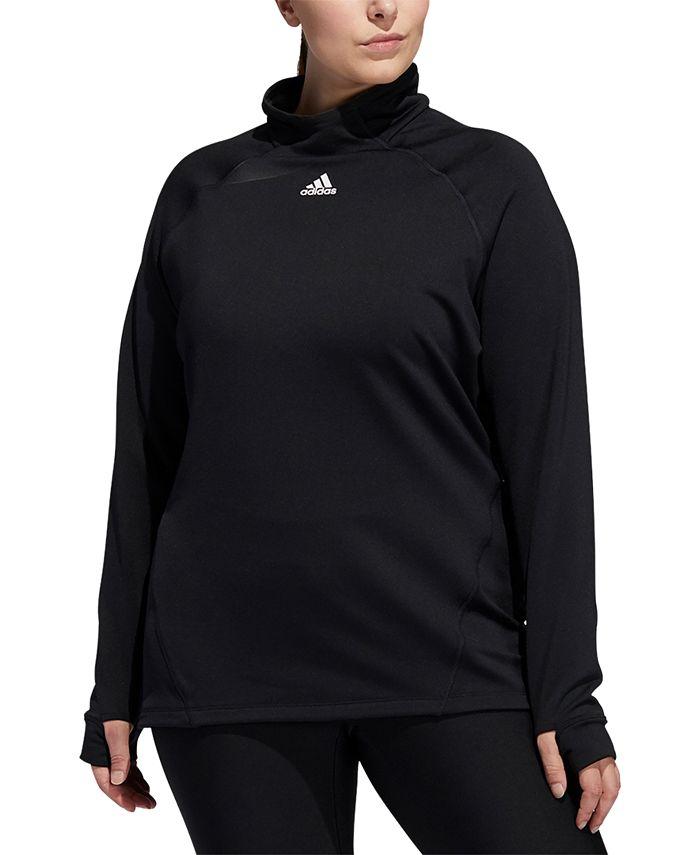 adidas - Plus Size Mock-Neck Training T-Shirt