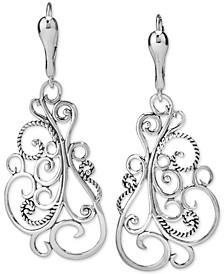 Filigree Drop Earrings in Sterling Silver