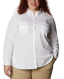 PFG Plus Size Bonehead™ Stretch Utility Shirt