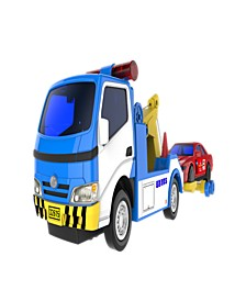 Mag-Genius Police Wrecker and Tow Car Combo Toy