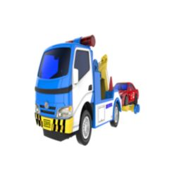 Mag-Genius Big Daddy Police Wrecker and Tow Car Combo Toy