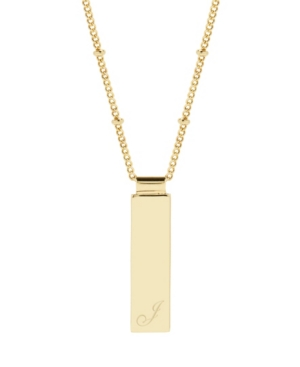 Maisie Initial Gold-Plated Pendant Necklace