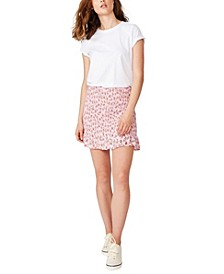 Ruby Shirred Mini Skirt