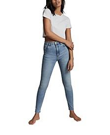 High Rise Skinny Leg Denim Jeans