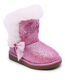 Toddler Girls Glitter Cozy Boots