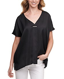 V-Neck Hardware Top
