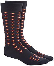 Men's Black Tiled Heart Socks, Created for Macy's