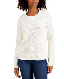 Style & Co Teddy Bouclé Sweater, Regular & Petite, Created for Macy's