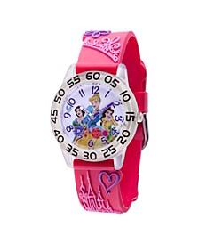 Disney Princess Snow White, Belle Girls' Clear Plastic Watch 32mm