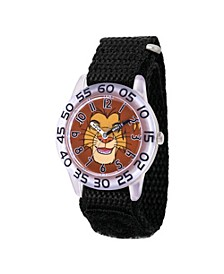 Disney Lion King Simba Boys' Clear Plastic Watch 32mm